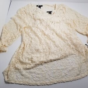 Style and Co womens knit vintage cream color